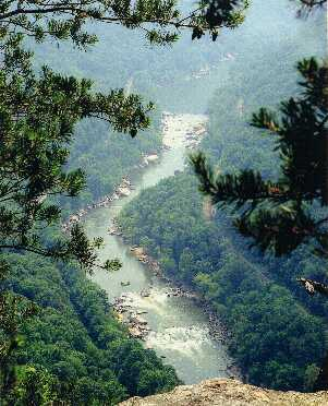 View of New River Gorge from Diamond Point.