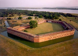 Aerial View of Fort Pulaski