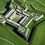 Aerial view of Fort Stanwix National Monument.