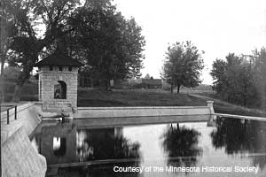 Historic photo of Coldwater Springhouse and Reservoir