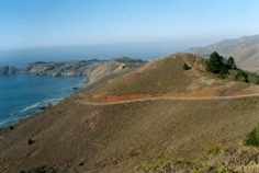 A view of Conzelman Road in the Marin Headlands