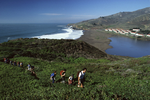 An education walk through the Marin Headlands led by an Headlands Institute instructor.