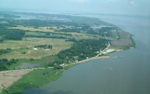 Aerial photo of Delaware coast line