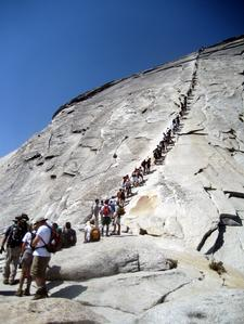 Half Dome in Peak Season