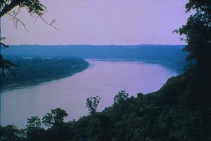 The Ohio River at the Great Bend near Leavenworth, Indiana