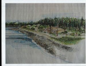 Artist's rendering of the Huna Tribal House.