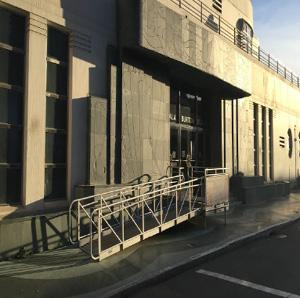 Maritime Museum (Aquatic Park Bathhouse) entrance showing existing accessible ramp.