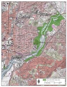 Map showing Anacostia Management Plan Study Area