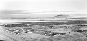 Panoramic view of Tule Lake Segregation Center, 1946. Photographer R.H. Ross, WRA