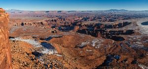 View overlooking the White Rim Road in Canyonlands National Park