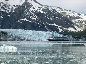 Cruise ship at Margerie Glacier.