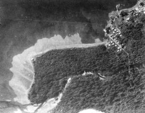 1929 Aerial image of Sitka National Monument showing open field south of Kiks.adi fort site.