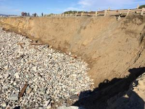 South of Sloat Blvd Erosion Hotspot (Reach 2) - Area where sand will be placed