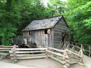 Photo of the John P. Cable Overshot Mill in Great Smoky Mountains National Park
