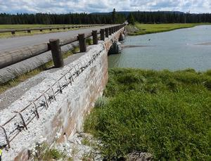 Existing Pelican Creek Bridge with Exposed Reinforcing Bars