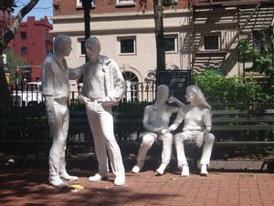 Gay Liberation, sculpture by George Segal (1924-2000)
