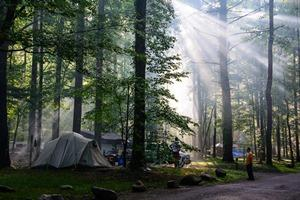Photo of Elkmont Campground in Great Smoky Mountains National Park.