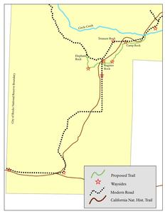 Map showing new trail system and exhibits