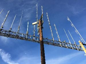 Photo of existing non-NPS radio infrastructure south of Hopi Point. One proposal within the Telecommunications Plan would remove, relocate, and/or consolidate this infrastructure.