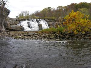 Scenic view of falls on Housatonic River