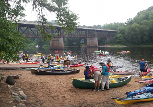 Boaters In Putting at the Osceola Landing St Croix National Scenic Riverway
