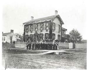 Photo of Lincoln Home and neighborhood in 1865.