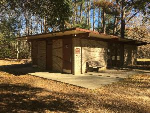 Photo of the existing historic Rocky Springs Mission 66 visitor contact station that is scheduled to be replaced.