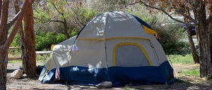 Tent camping in the Chisos Basin Campground.